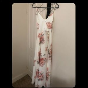 Brand new cream floral dress from LuLus